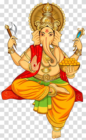 Ilustrasi Dewa Ganesha, Ganesha Parvati Sri, Ganesha png