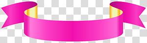 Grafik Kertas, Spanduk Merah Muda, pita merah muda dan kuning png