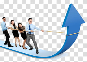 panah menarik empat orang, Manajemen penjualan Manajemen penjualan Pengembangan bisnis, Pengusaha dengan panah png