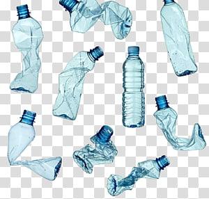 Botol plastik, Limbah Daur Ulang, botol plastik daur ulang, ilustrasi botol plastik sekali pakai png