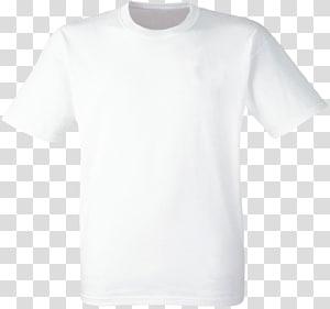kaos leher awak putih, Kaos Pakaian Fruit of the Loom Cotton, shirt png