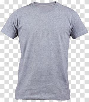 t-shirt crew-neck abu-abu, T-shirt Polo shirt Dress, t-shirt Gray png