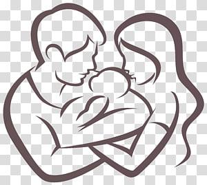 Ayah Bayi Keluarga Anak, karakter Keluarga, pria dan wanita yang merangkul ilustrasi bayi png