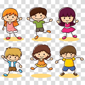 ilustrasi menari anak-anak, Kartun Euclidean Anak, koleksi Happy kids png