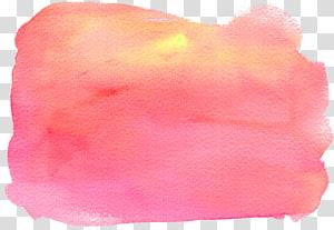 Lukisan cat air Tekstil TPE: 2636, Efek cat air merah muda PNG clipart