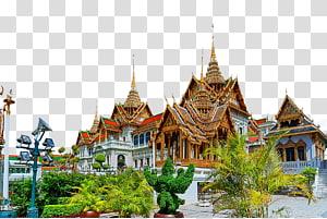 ilustrasi kastil putih dan coklat, Grand Palace Wat Arun Chiang Mai, Grand Palace Tour Bangkok png