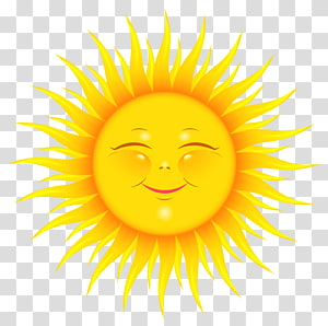 Kartun, Lucu Matahari, matahari kuning surgawi PNG clipart