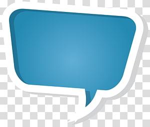 Balon ucapan, Gelembung Ucapan, ikon obrolan pop biru dan putih png