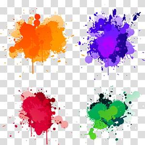 Ilustrasi Splash Paint, Paint splash, lukisan abstrak beraneka warna png
