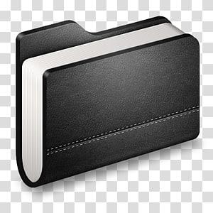 buku hitam, dompet elektronik elektronik, Library Black Folder png