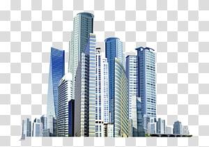 bangunan kota, Gedung Pencakar Langit Ikon, gedung pencakar langit kota virtual PNG clipart