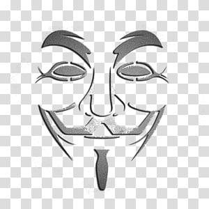 ilustrasi topeng, topeng Guy Fawkes Ornamen Anonim, Topeng Wajah Abstrak png