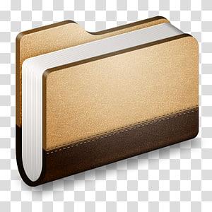 pengikat buku coklat, persegi panjang, Library Brown Folder png
