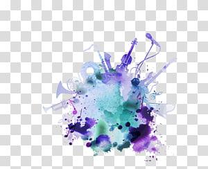 ilustrasi warna-warni, Alat musik, not png