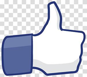 Facebook suka logo, sinyal jempol, jempol ke atas PNG clipart