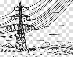 Saluran listrik Overhead listrik Tegangan tinggi Listrik frekuensi radio, peralatan kawat tegangan tinggi png