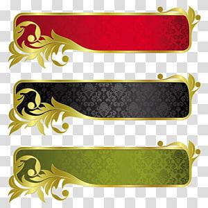 Banner Pita Emas, pola perbatasan logam dengan pola logam png