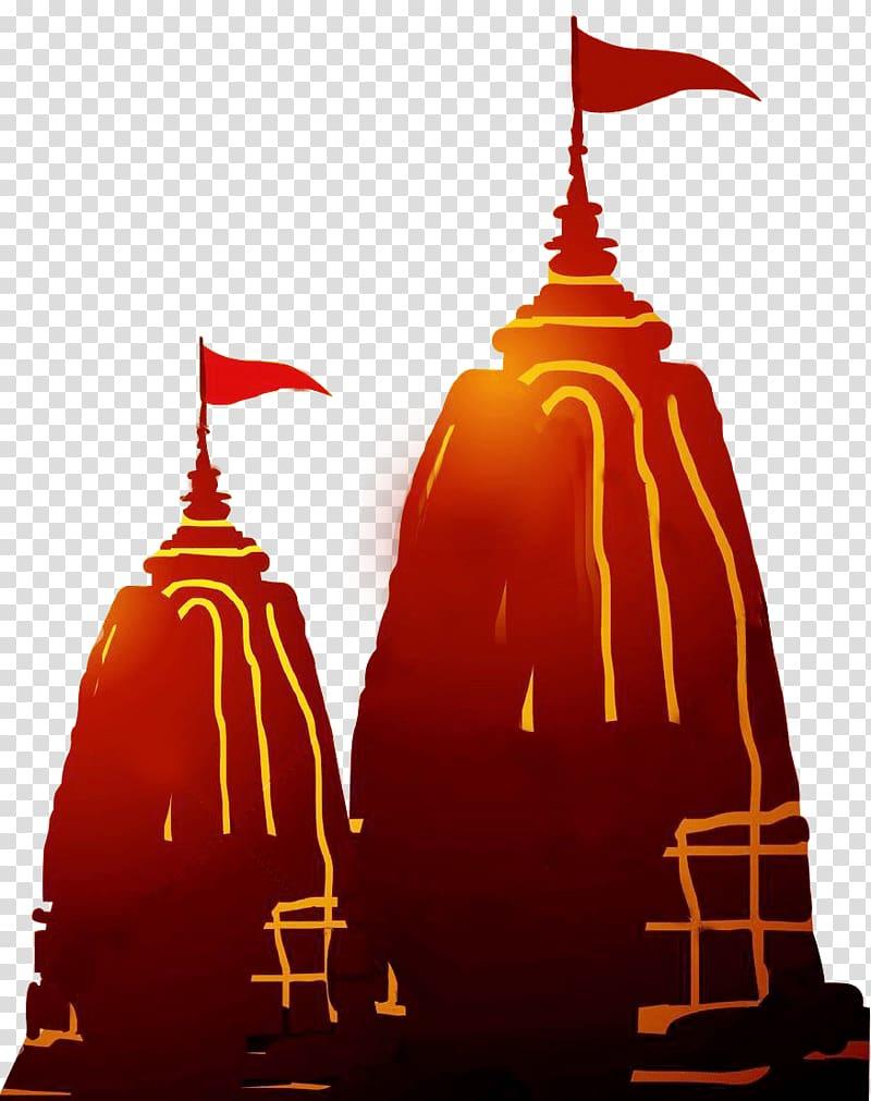 dua ilustrasi bendera merah, Kuil Hindu Kali Vajreshvari Hindu, navratri png