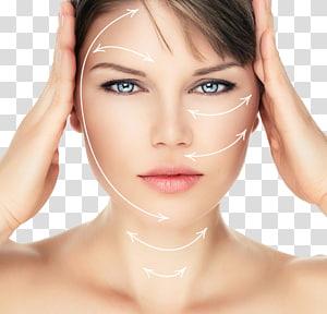 wanita menyentuh kepalanya, Bedah obat estetika Estetika Chirurgia estetica Blepharoplasty, Model pijat wajah PNG clipart