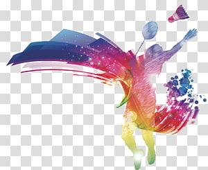 badminton, Badminton Poster Undangan pernikahan, Orang-orang bermain bulu tangkis png
