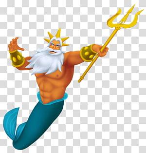 Ilustrasi Disney Triton, Korsel Raja Triton Ariel Putri Duyung Kecil Sang Pangeran, Raja Triton png