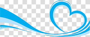 Ikon Euclidean, latar belakang elemen pita biru, ilustrasi hati biru dan biru muda png