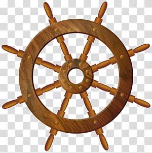 roda kapal coklat, roda Kemudi, Roda Kayu png