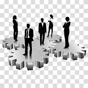 ilustrasi profesional pria dan wanita, Peralatan Manajemen Layanan Bisnis Taobao, Orang yang sukses berdiri di atas gigi png