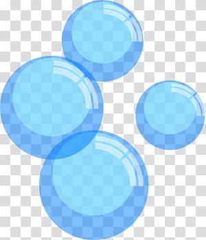 empat ilustrasi gelembung biru, Bubble, Blue Bubbles s PNG clipart