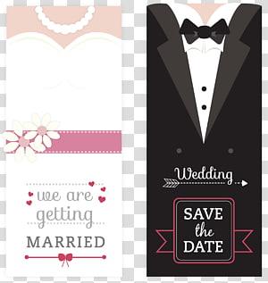 Amplop undangan pernikahan Simpan tanggal, Kartu Undangan Pernikahan, ilustrasi tuksedo png