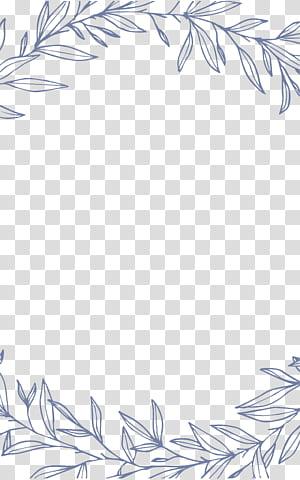 Undangan pernikahan Destin Euclidean, Batas daun sederhana dan elegan, ilustrasi daun abu-abu png