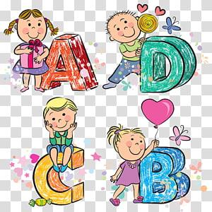 Huruf Alfabet, Anak-anak png