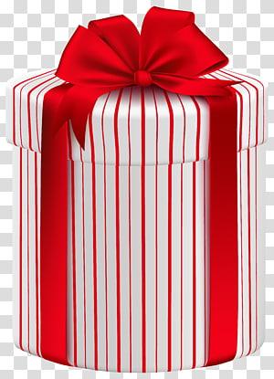 kotak hadiah merah dan putih, Kotak Hadiah kertas Natal, Kotak Hadiah Besar dengan Red Bow png
