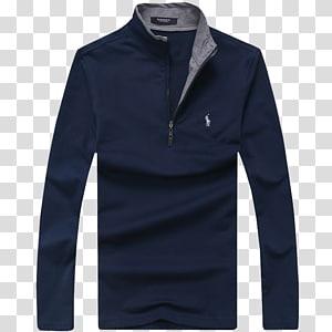 biru dan abu-abu Ralph Lauren jaket setengah ritsleting, Hoodie Jacket Diesel Sweater Clothing, POLO shirt png