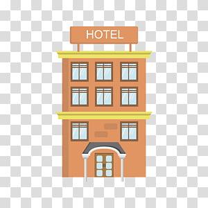 ilustrasi hotel oranye, Hotel Gratis Vecteur, hotel png