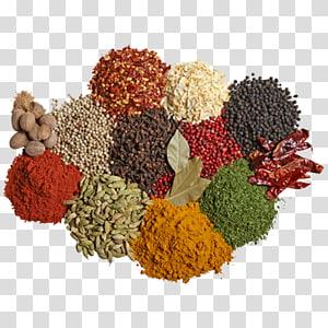 ilustrasi berbagai macam rempah-rempah, masakan India. Campuran bumbu Rasa Makanan, garam png