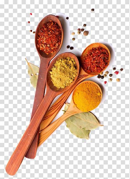 sendok kayu cokelat dengan ilustrasi rempah-rempah, Ras el hanout Adobo Spice Food Condiment, rempah-rempah India png