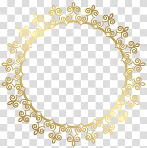 , Putaran Bingkai Batas Emas, ilustrasi bulat emas PNG clipart