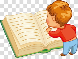 membaca buku dibuka anak laki-laki, Membaca Buku Anak, membaca Anak-anak png