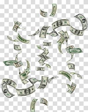 Uang, Falling money, aneka-denominasi lot dolar Amerika png