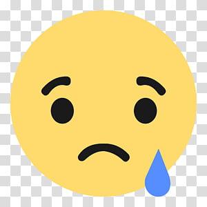 Media sosial Facebook Emoji Suka tombol Emoticon, sedih emoji, ikon sedih emoji png