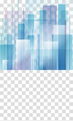 Kota Abstrak Seni abstrak Desain grafis, blok geometris abstrak Gradien PNG clipart
