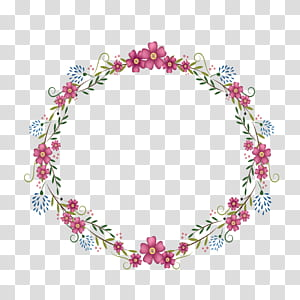 Bingkai bunga bulat, ilustrasi karangan bunga bunga merah png