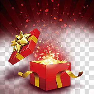 kotak hadiah merah, Hadiah Gratis, Buka kotak hadiah png