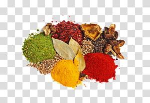 berbagai rempah-rempah, campuran rempah-rempah ramuan makanan bahan, rempah-rempah berwarna-warni png