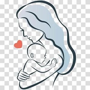 Ikatan ibu Logo Bayi Ilustrasi, ilustrasi ibu dan anak, ilustrasi wanita dan bayi png