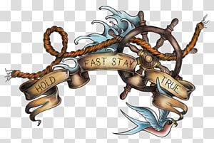 roda kemudi kapal coklat, Sekolah tua (tato) Roda kapal Tato pelaut, bahari png