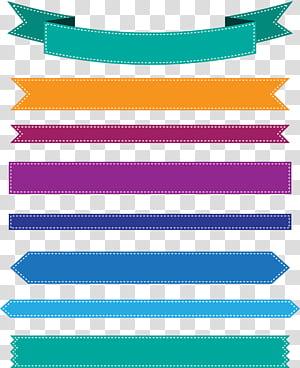 Ikon Pita web banner, Spanduk pita warna-warni, ilustrasi pita warna-warni png