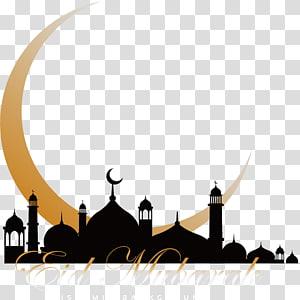 Ilustrasi Latar Belakang Islam Idul Fitri, Masjid Al-Quran Ramadhan Islam, Gereja Bulan Sabit PNG clipart