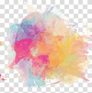 Lukisan cat air tinta, poster tinta berwarna-warni, lukisan abstrak warna-warni PNG clipart